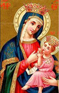 Maria allatta Gesù