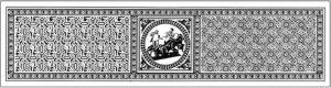 mosaico completo Trionfo di Bacco villa romana di Casignana