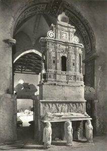 Sarcofago Nicola Ruffo in una immagine inizio anni '50